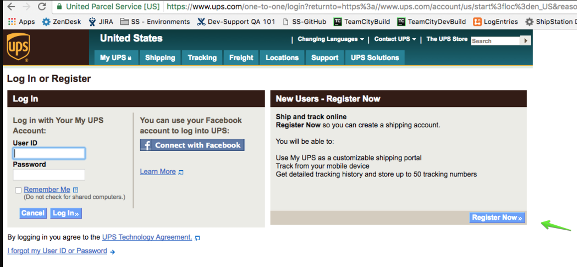 4 click register now under the new users column on the right
