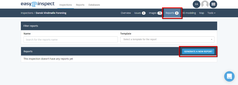 Generate a new report