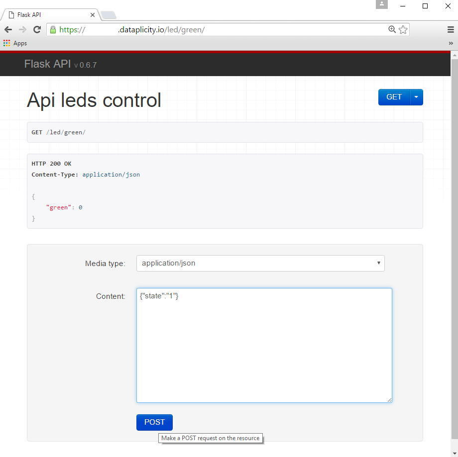 Control GPIOs using REST API