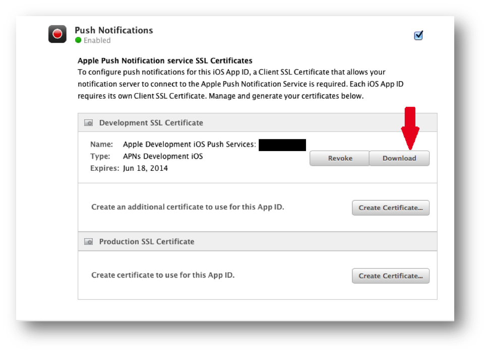 Downloading the certificate