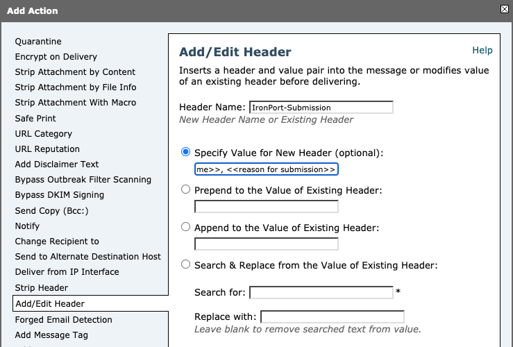 Be sure to replace <<customer name>> and <<reason for submission>>