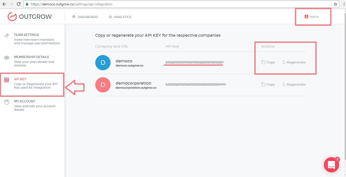 Outgrow API Key
