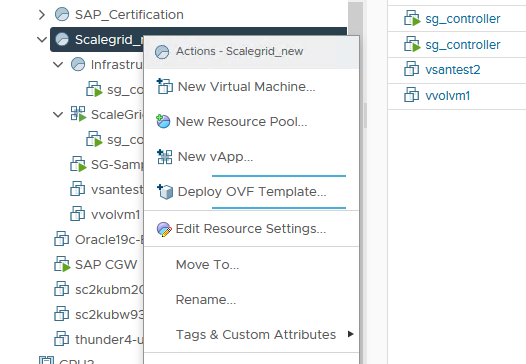 Deploy OVF Template