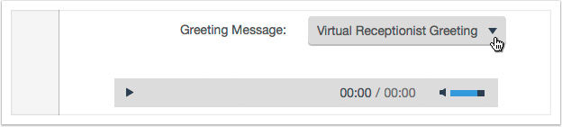 Choose a greeting message from the drop down