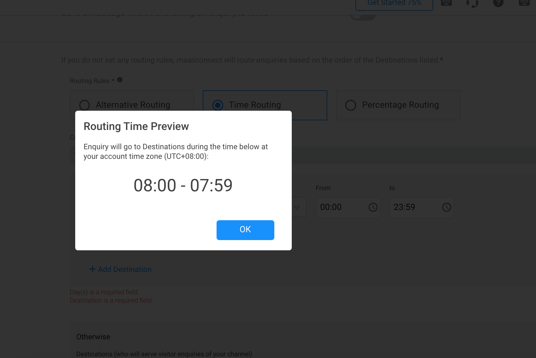 Preview of Time Routing based from Timezone