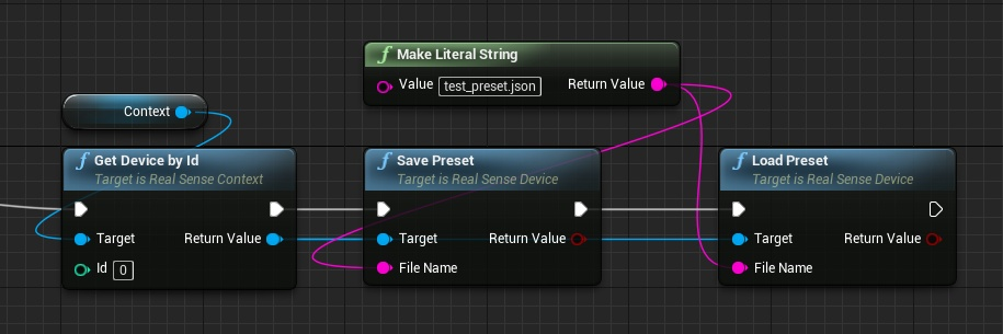 Save and load preset blueprint