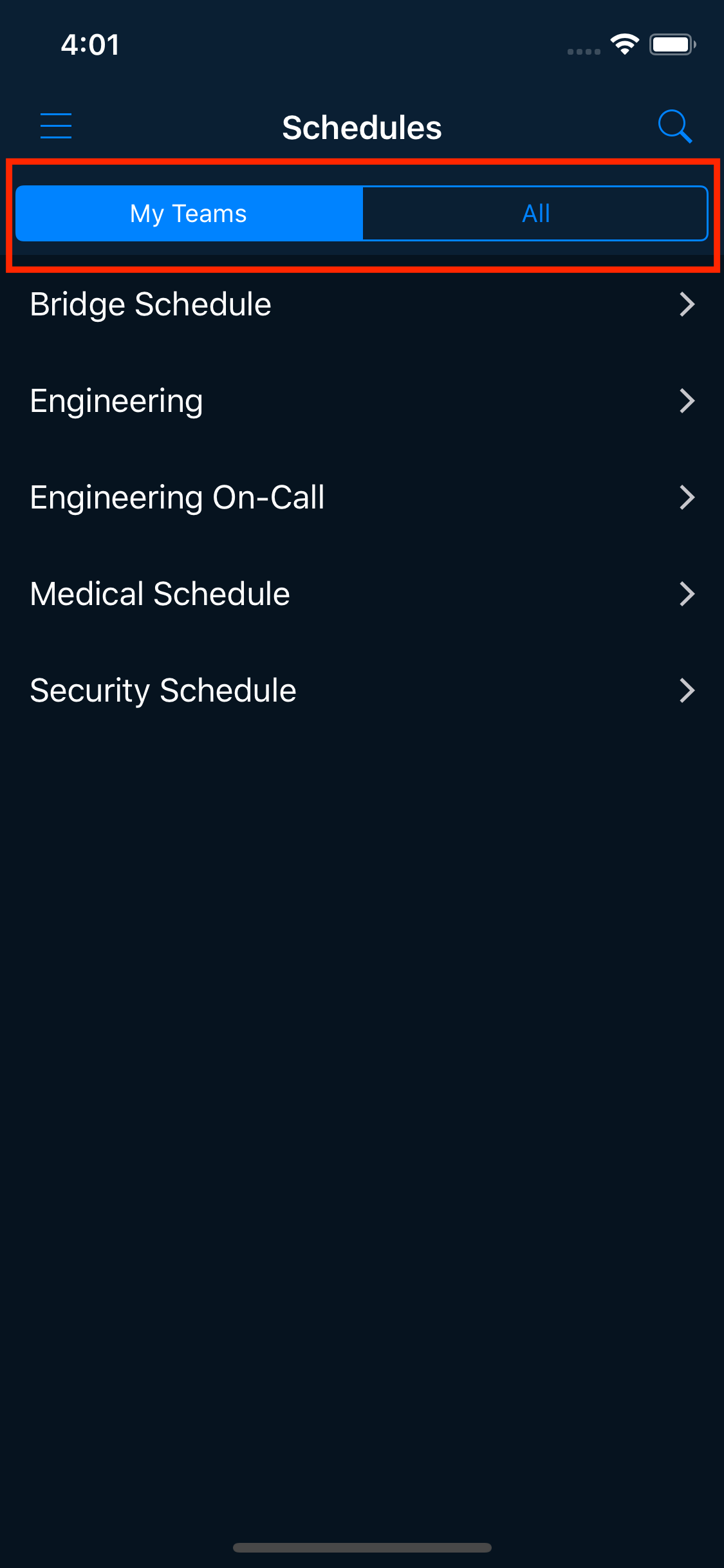 using mobile schedules