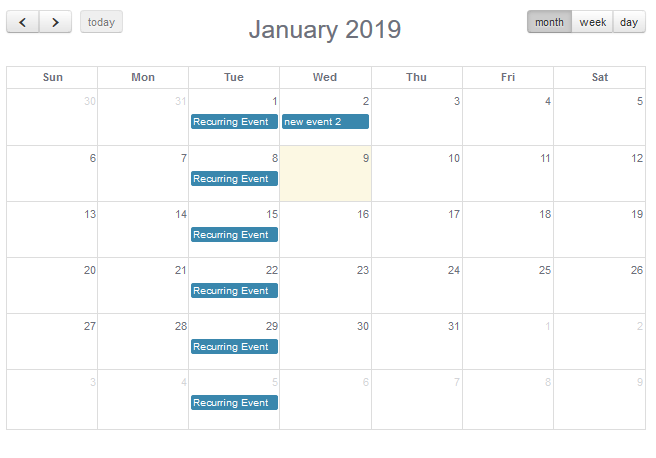 Office 365 Calendar Widget