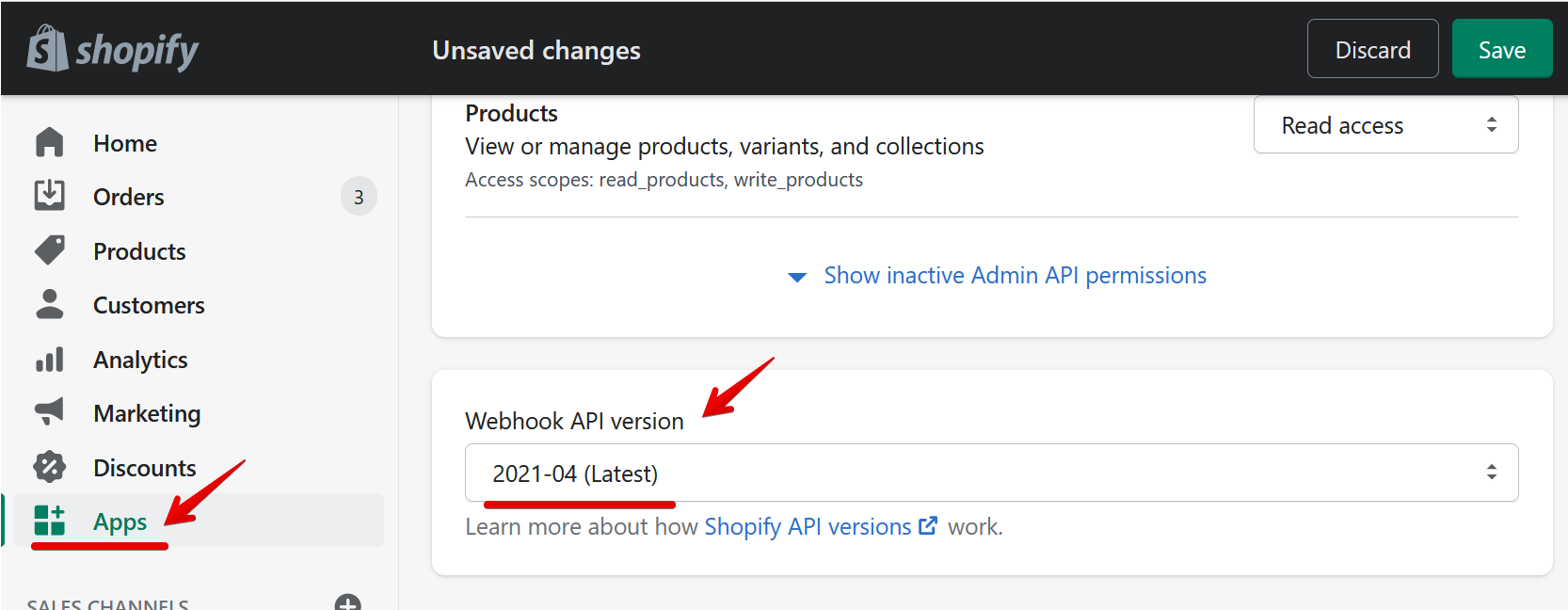 Update to the latest Webhook API version