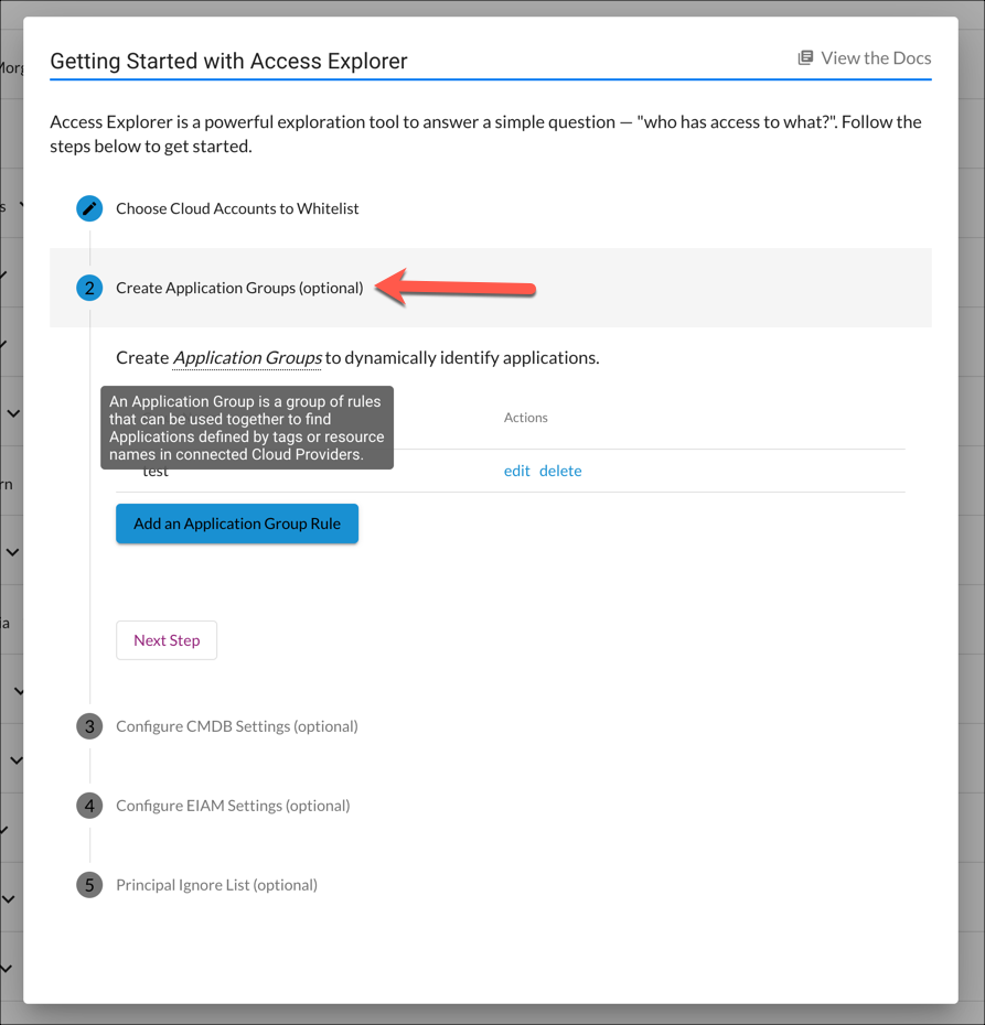 Getting Started with Access Explorer - Step 2 (Application Groups)