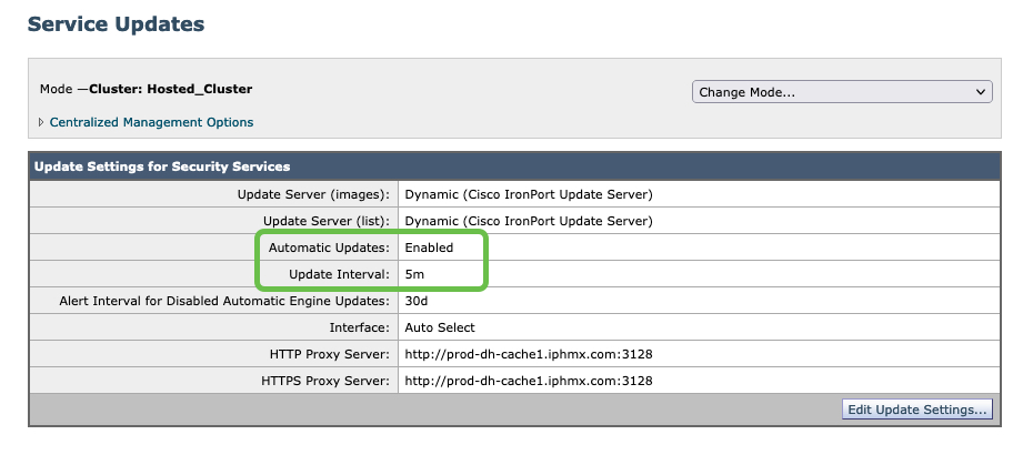 Note: Cluster: Hosted_Cluster as this is Cloud Gateway