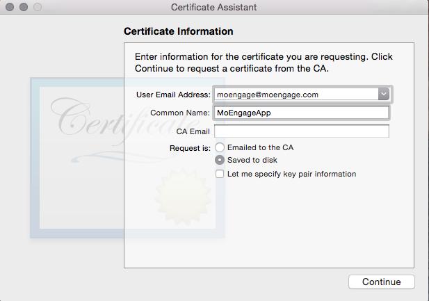 APNS Certificate/ PEM file