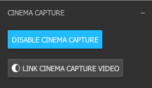 Enabling Cinema Capture previews footage from your video camera as opposed to the sensor color.