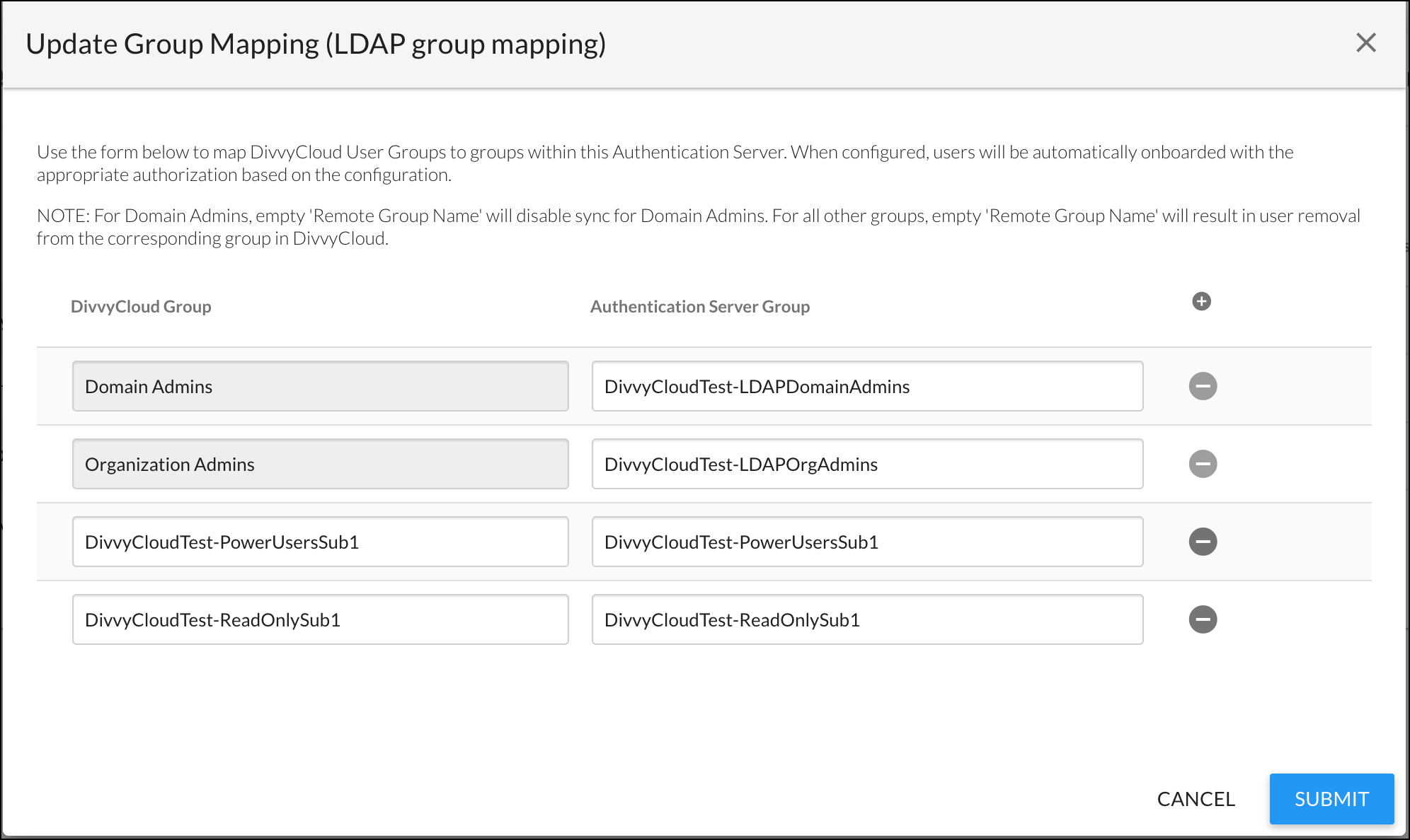 Example Group Mappings