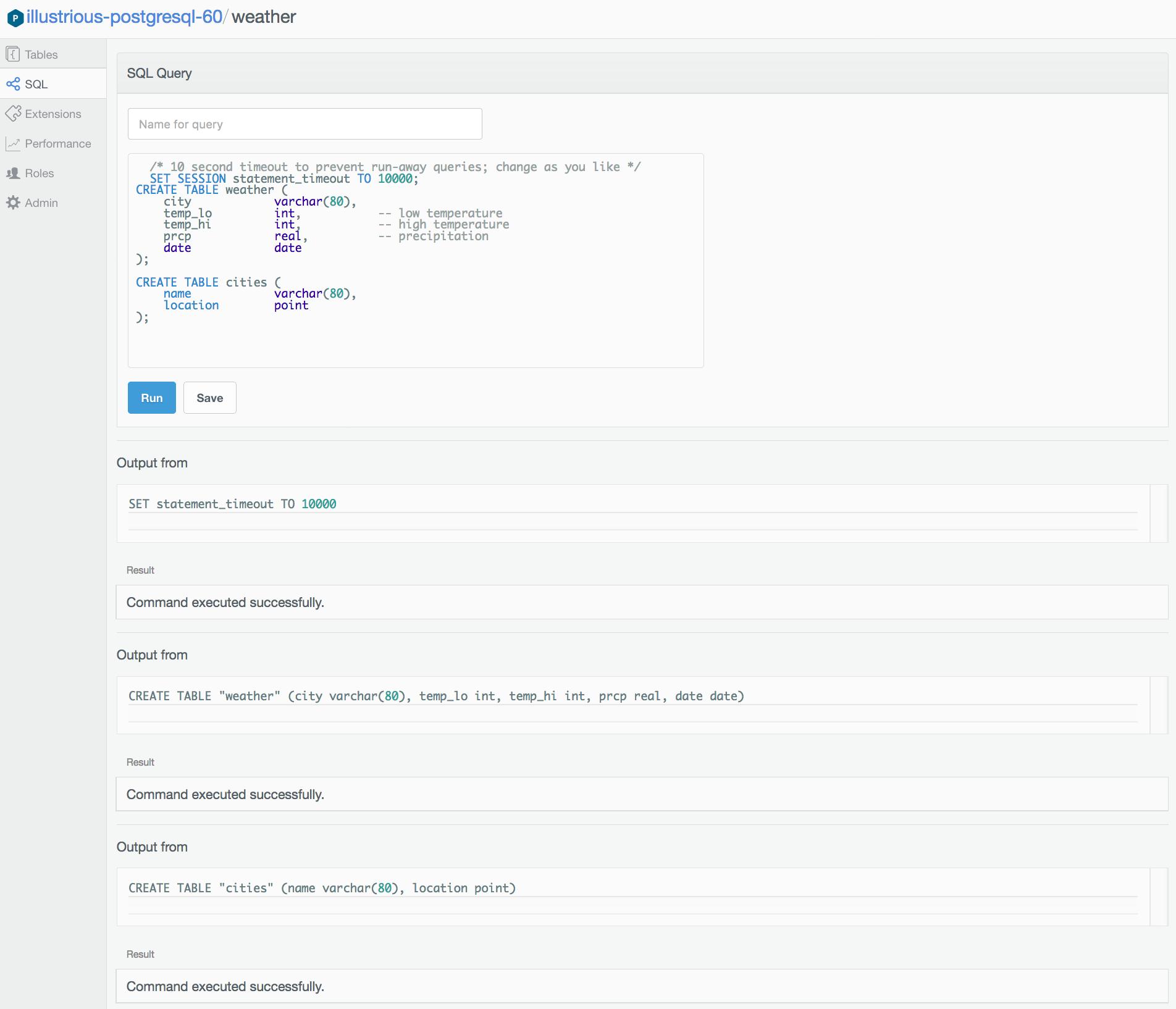 Data Browser for PostgreSQL