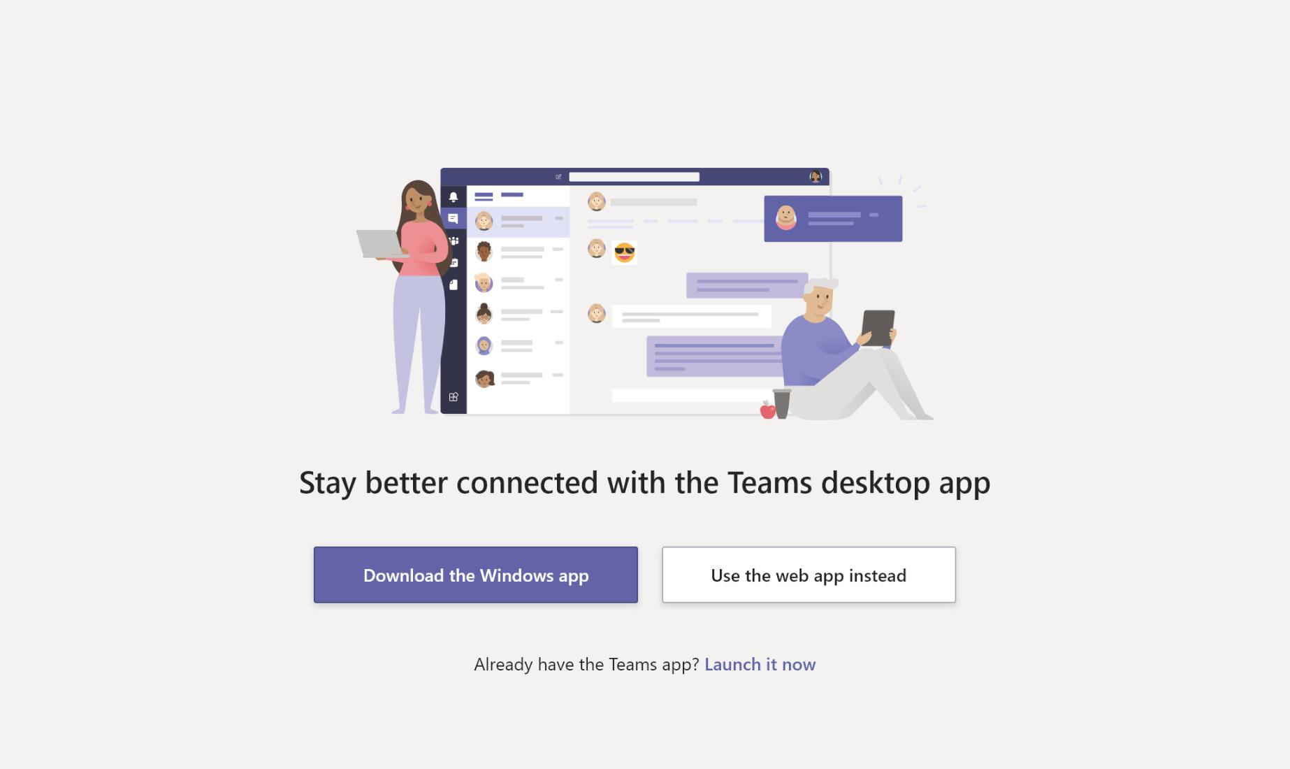 Téléchargement de l'application Teams