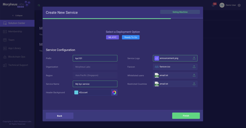 Service configuration example