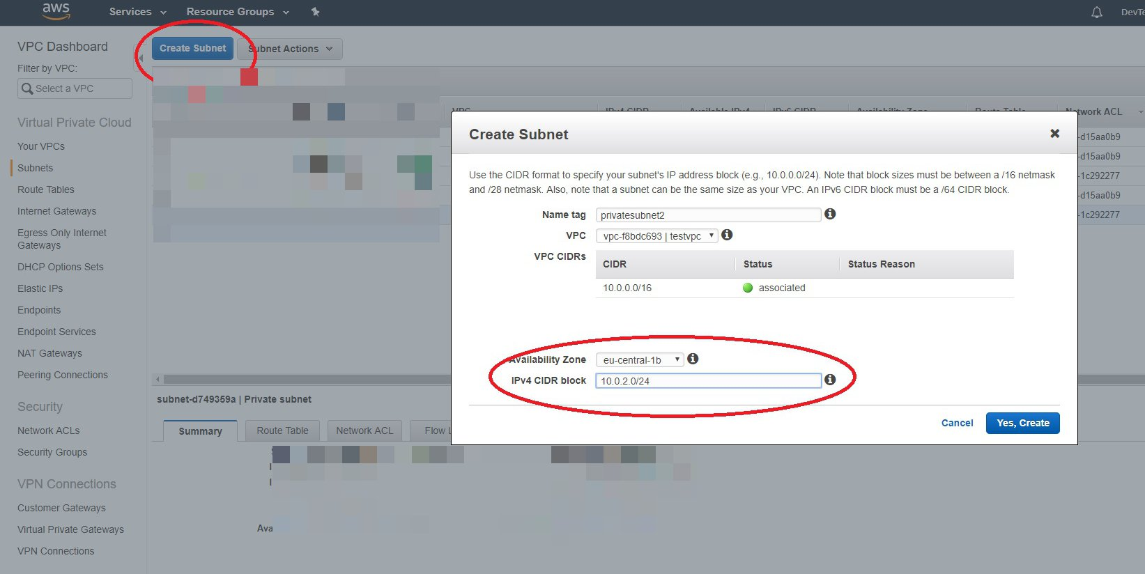 Setup an AWS VPC Infrastructure for your Database Servers