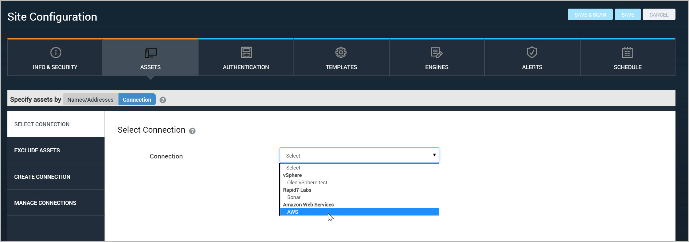 Creating and managing Dynamic Discovery connections