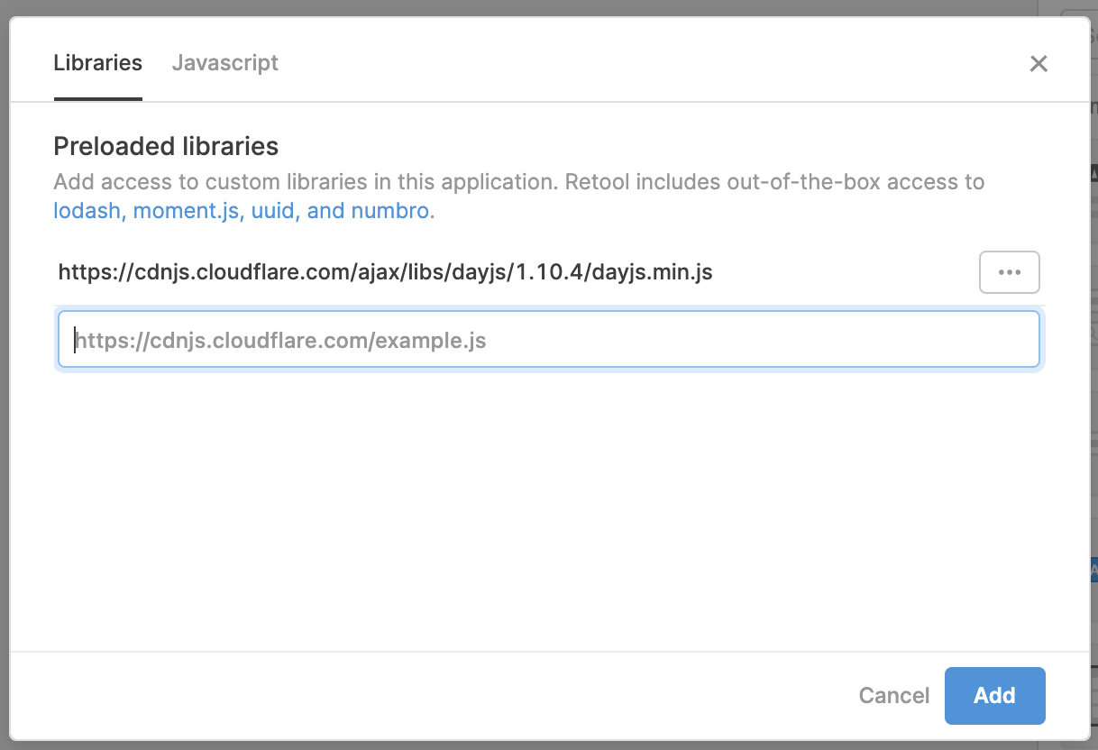 Using app-specific libraries.