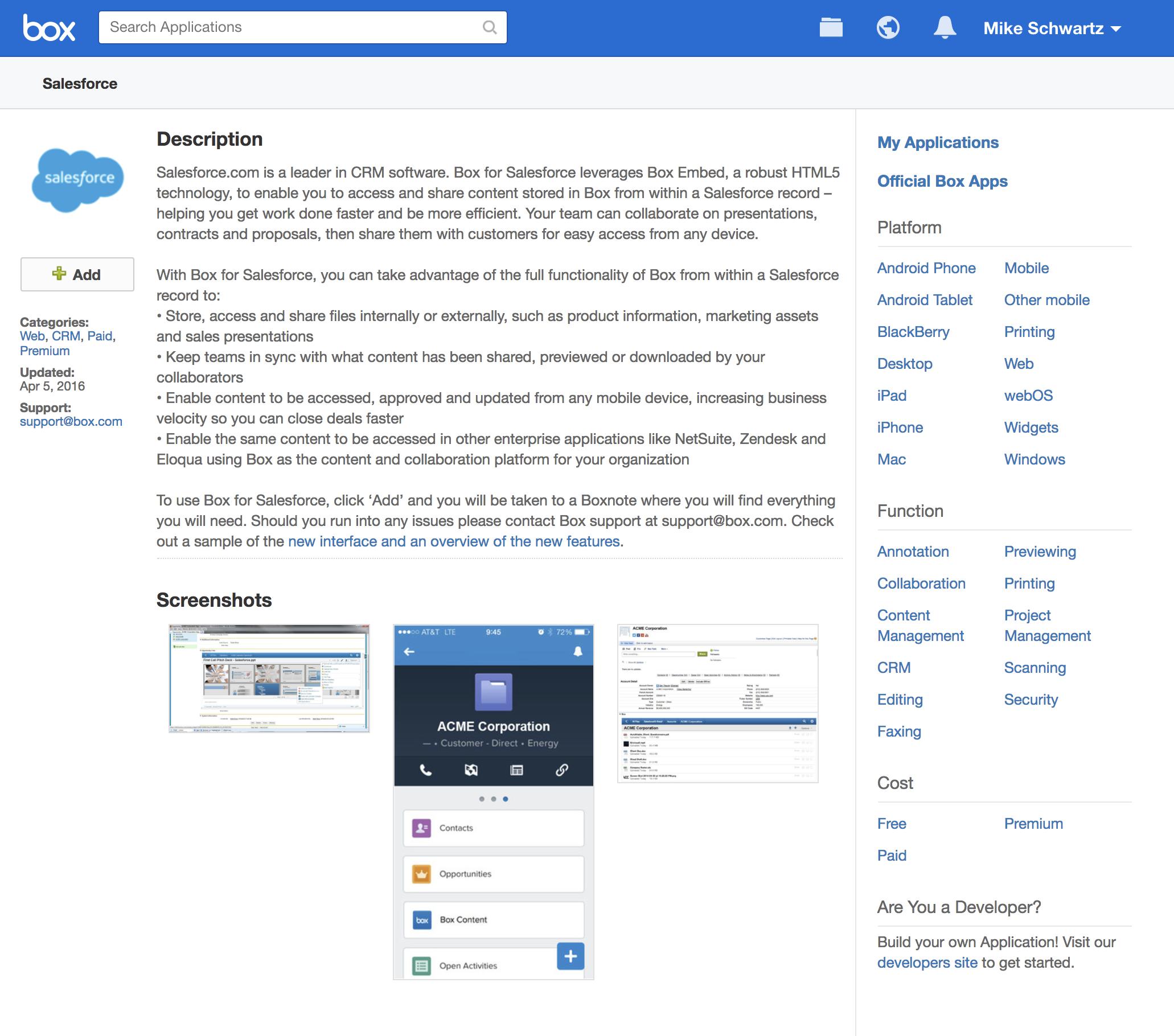 web application integrations