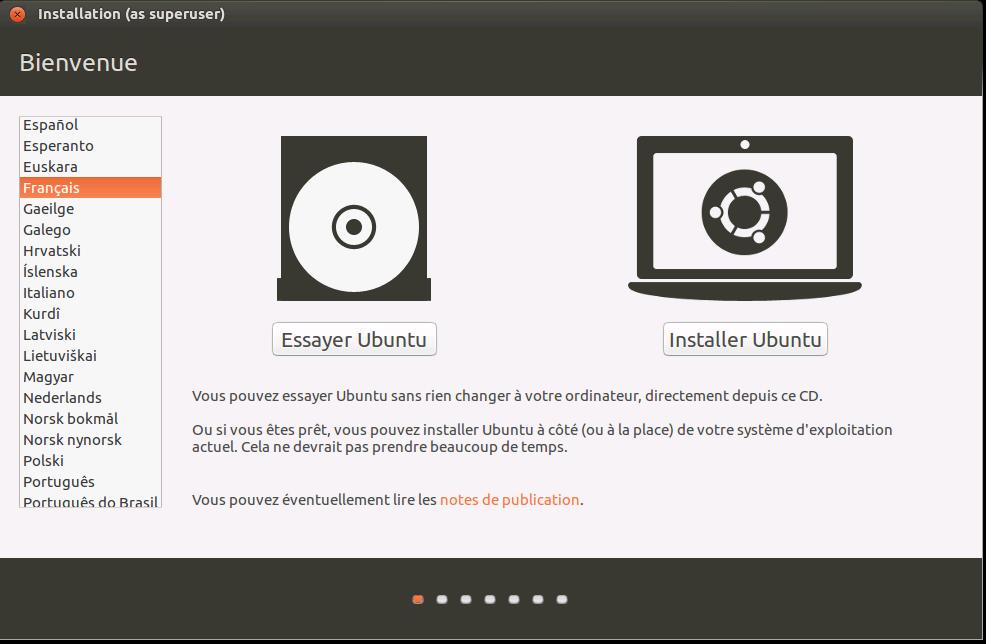 Installer simplement Ubuntu en vous laissant guider par l'assistant d'installation Ubuntu