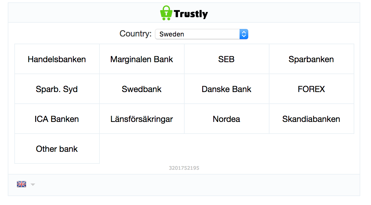 Trustly Branded Bank Transfer Withdrawal