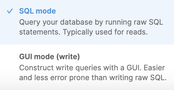 GUI mode is available only for resources with both read and write permissions