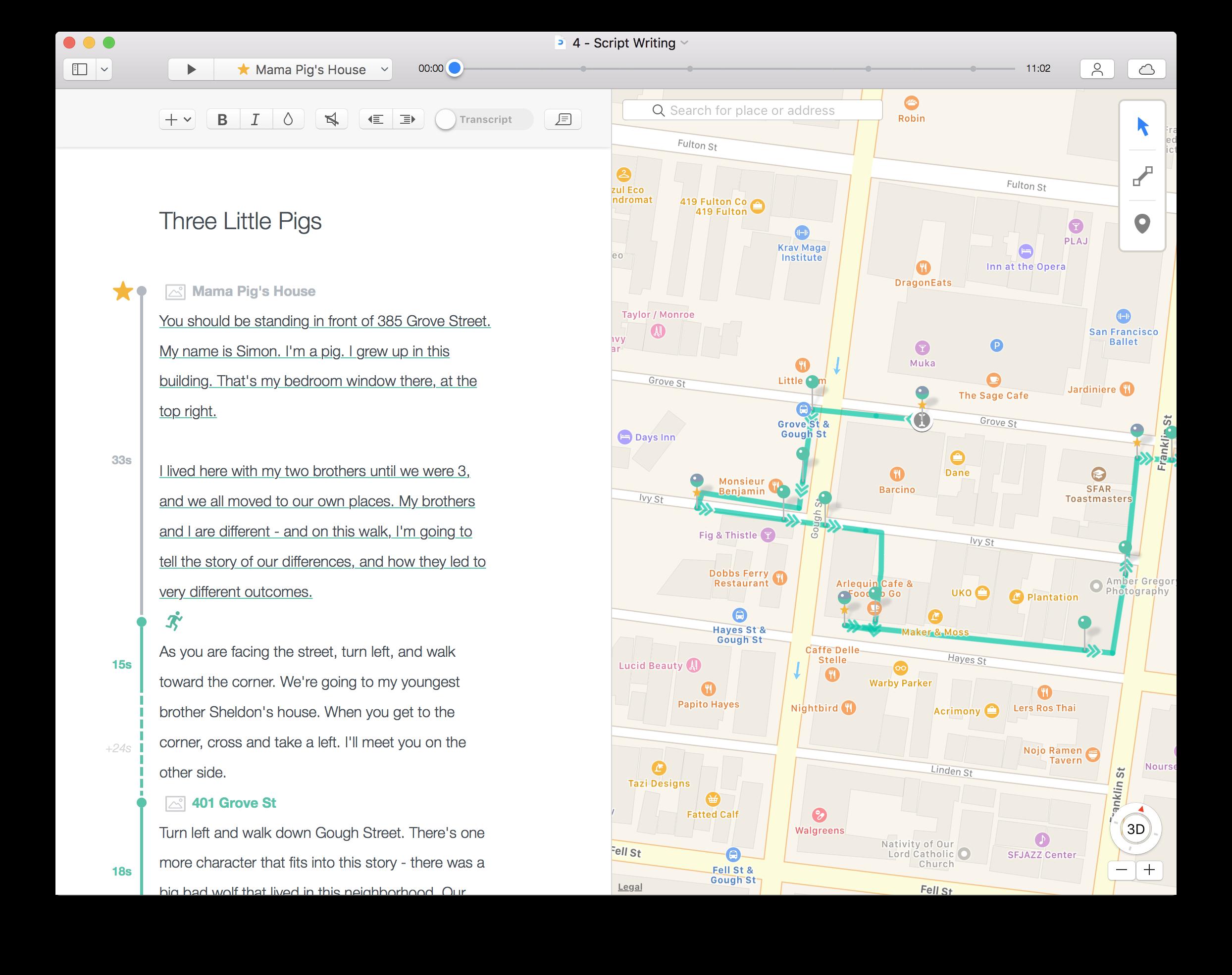 Script/Map View