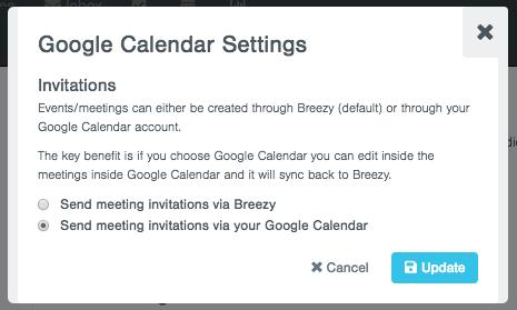 Meeting Invitations via Google Calendar