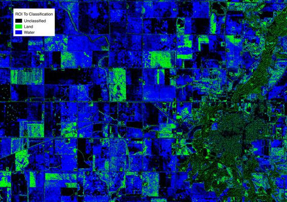 After: WorldView 2 image after ROI Classification