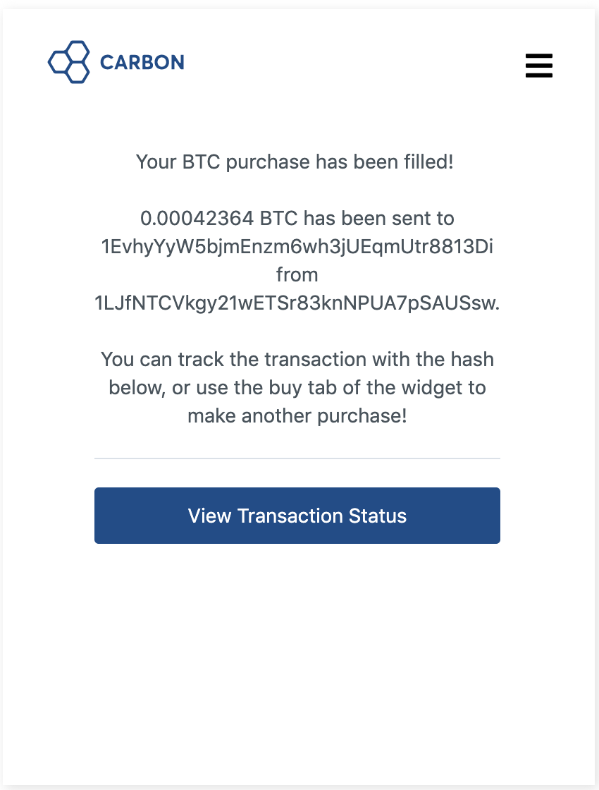 After the user is authenticatd by the ACS, the transaction is processed and the user is redirected to a confirmation screen
