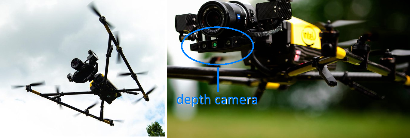 Figure 2. Drone with depth sensor