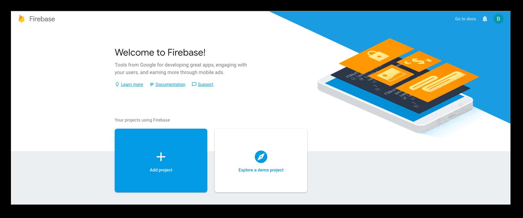 Create Firebase App