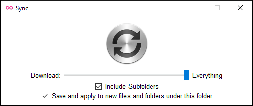 Use right-click to sync a folder and download its contents according to your preferences, independent of autodownload limit settings.