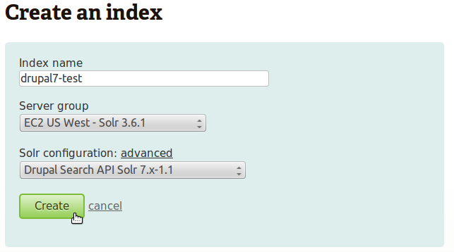 Drupal 7 with the Search API Solr module · websolr