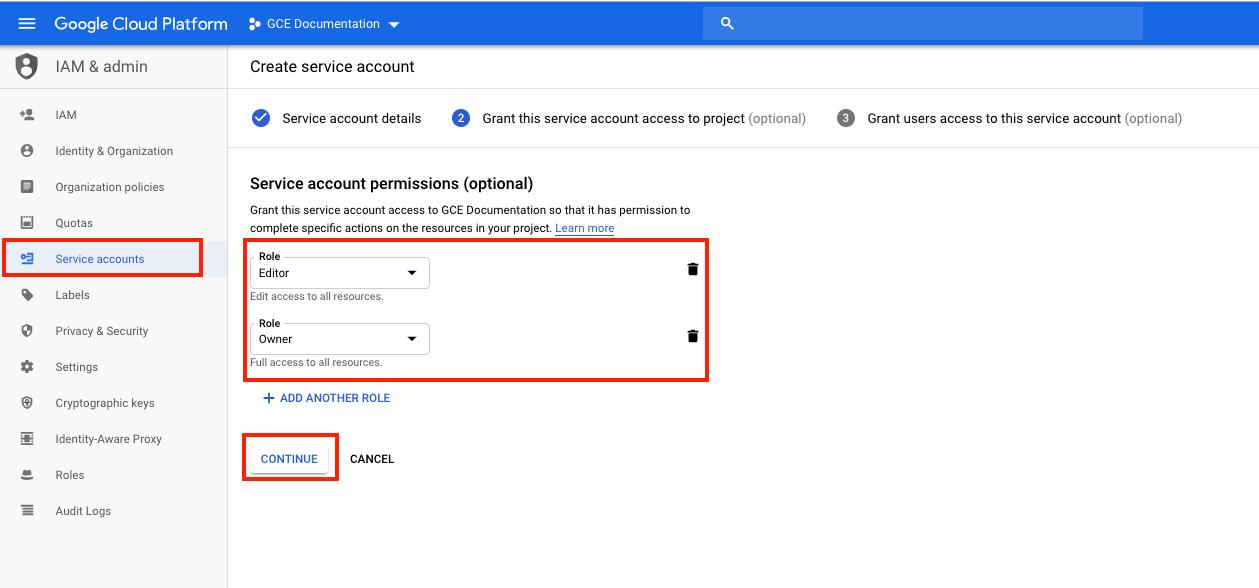 GCP - Service Account Permissions