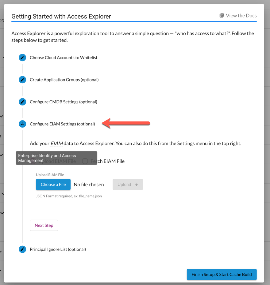 Getting Started with Access Explorer - Step 4 (EIAM)