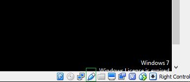 Botão direito sobre o ícone e habilite o Pinpad