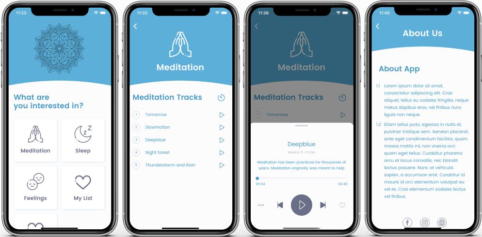 *Meditation & Sleep App* installed on an iOS device