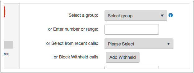 Enter a number or select from recent calls