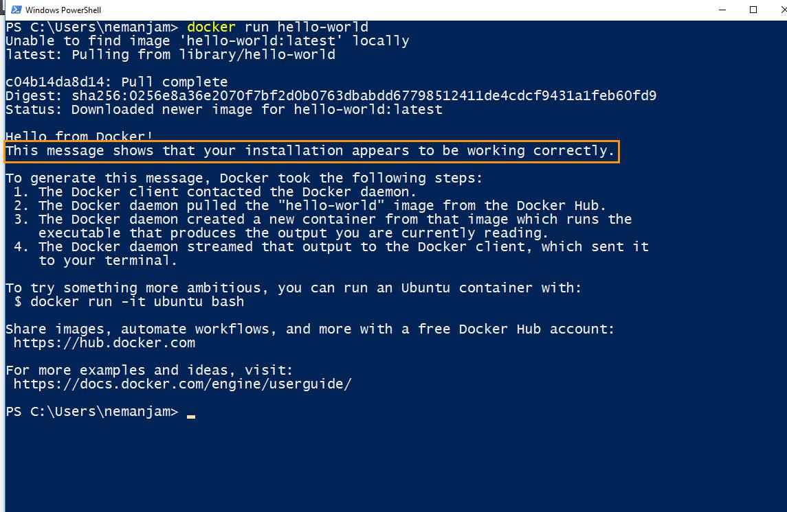 Install Docker on Windows