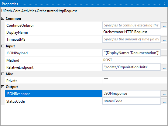 Orchestrator HTTP Request