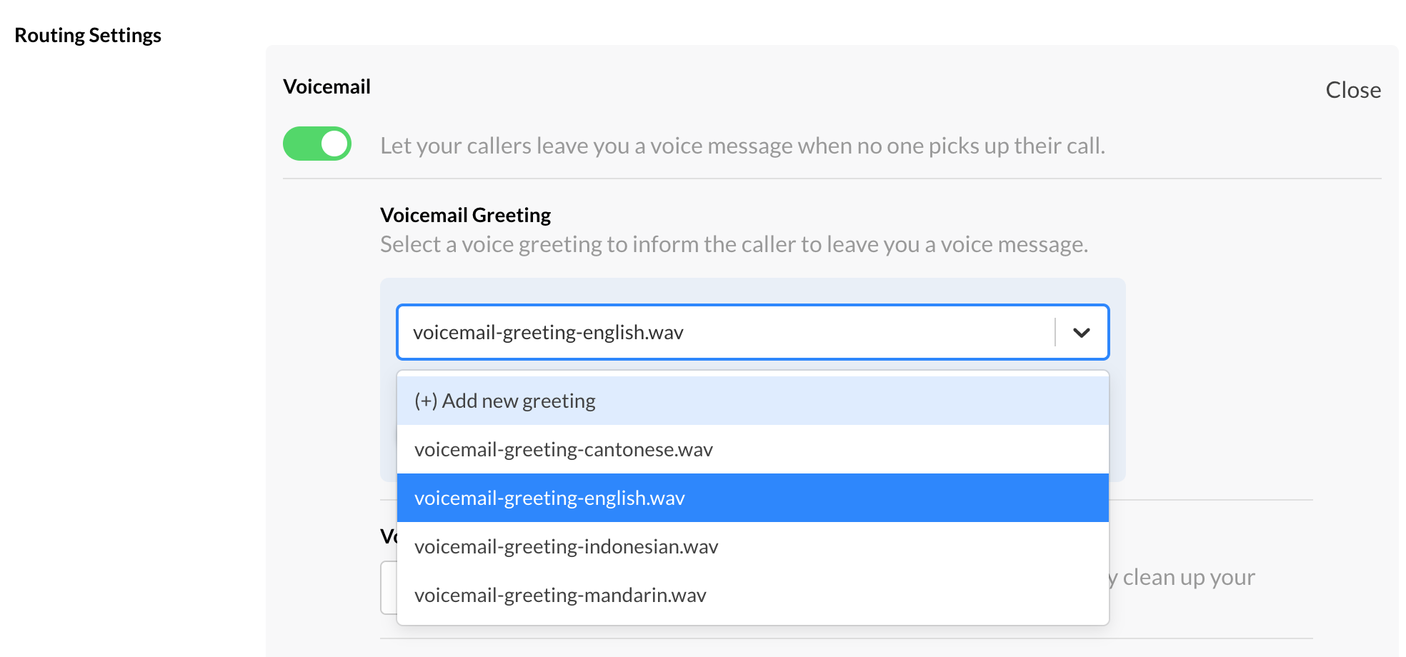 Default Voicemail Greeting