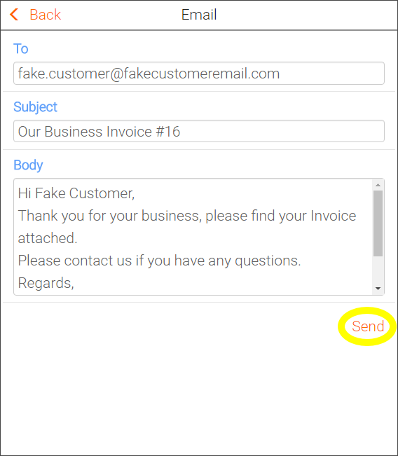 Sending Invoices To Customers FieldInsight Help Center - How to send invoice to client by email