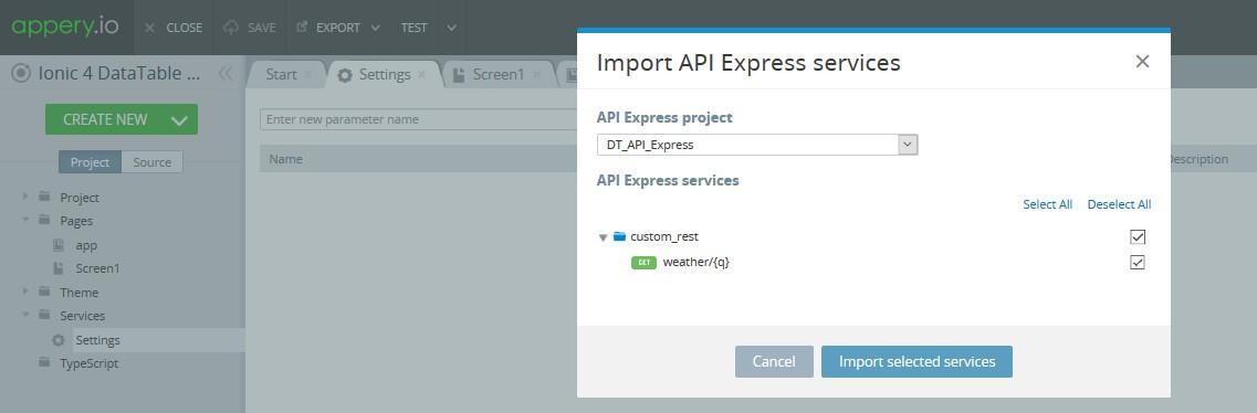 Creating API Express service