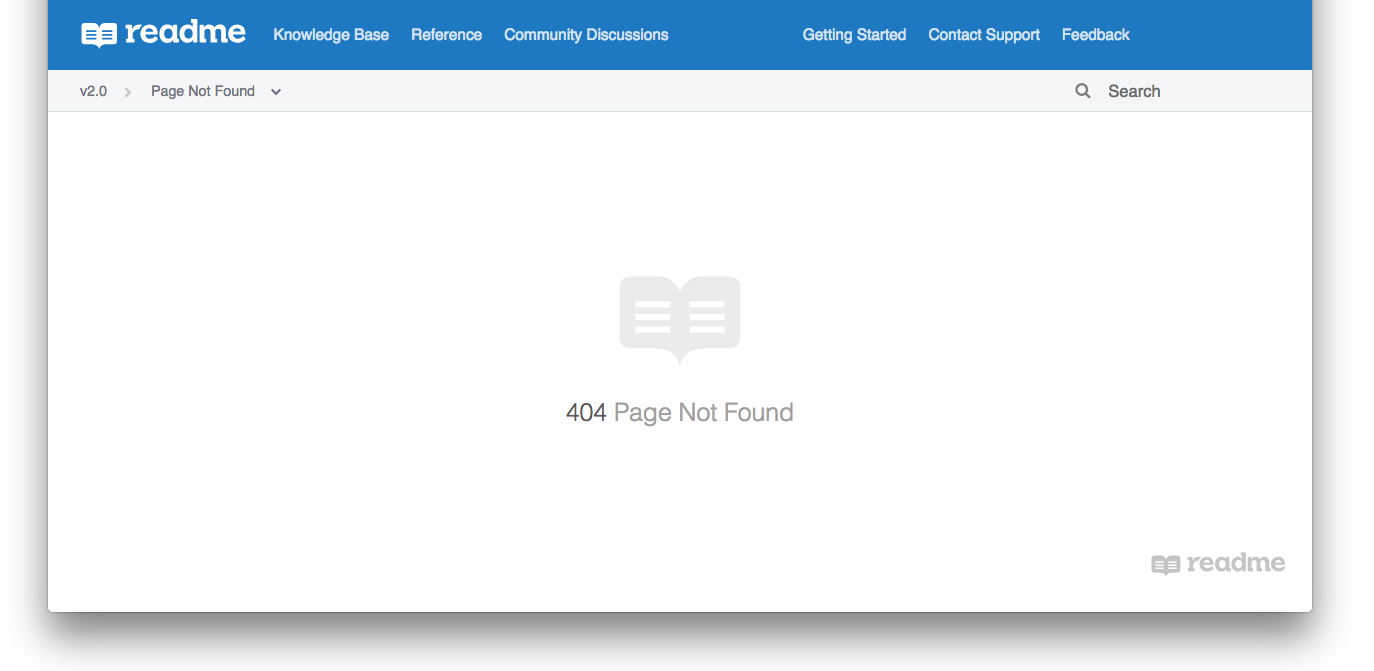 Our generic 404 page