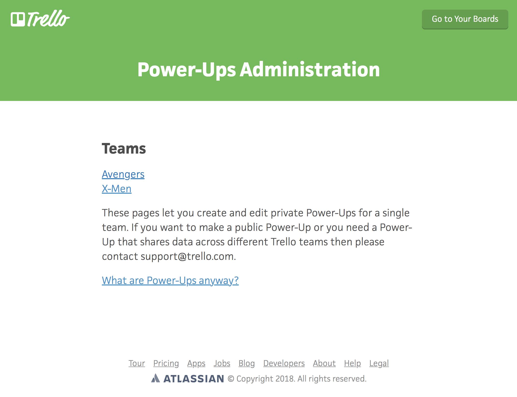 managing power ups