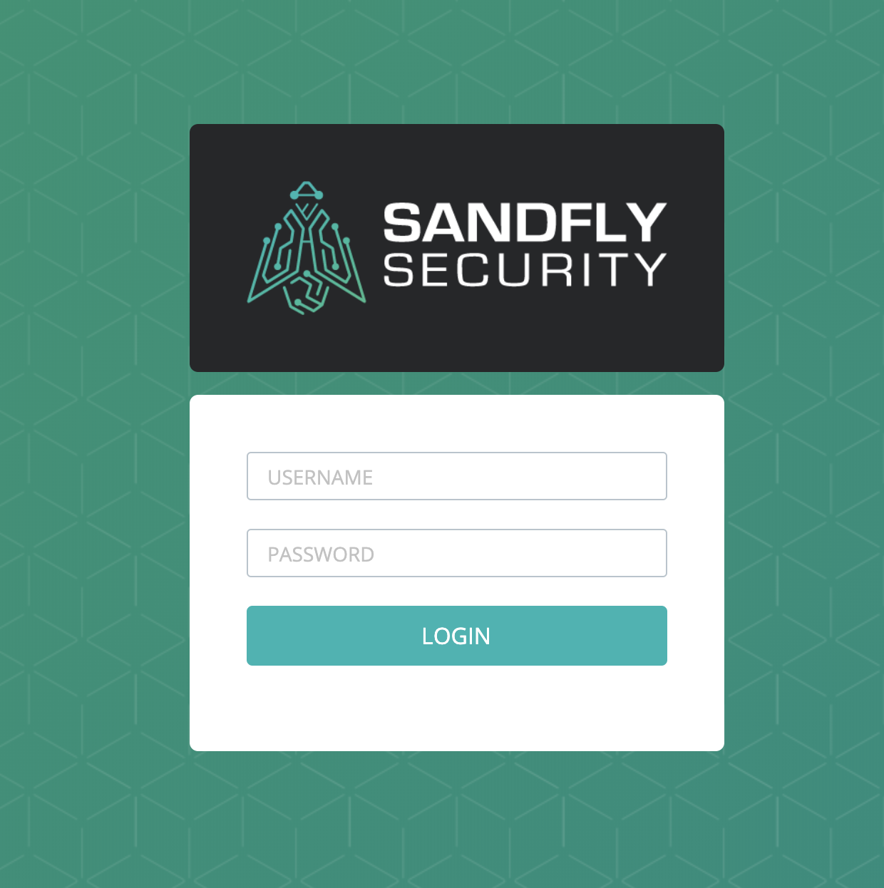 Sandfly Login Screen