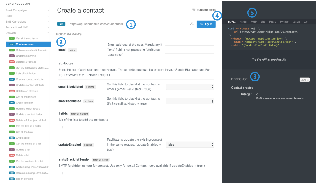 Import your contacts to Sendinblue